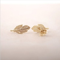 Fashion A leaf earrings 18K Gold Plated/silver plated/rose gold plated earrings  wholesale free shipping
