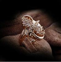 2014 Fashion high quality zircon luxury Genuine Austrian Crystals   CZ rings Band Wedding Eternity Ring Jewelry free shipping