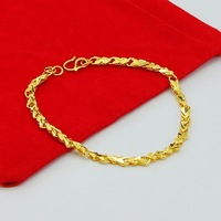 Big Discounts Promotion ,Charm Heart Bracelet Wholesale 24K gold plated Bracelet,24k gold plated Jewelry,Free shipping