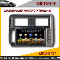 8inch TOYOTA PRADO150 CAR DVD player with FM/AM USB SD Bluetooth IPOD GPS TV ,canbus +Free Shipping