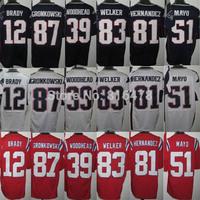 wholesale Cheap American Football Jerseys,12.BRADY 39.WOODHEAD 51.MAYO 83.WELKER 87.GRONKOWSKI 81.HERNADEZ men elite Jerseys