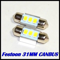 12V 100pcs/lot 31mm Dome Festoon 3 SMD 5630 5730 31mm LED CANBUS Car Interior Reading License plate light No Error white