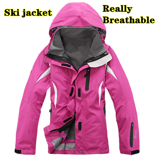 2014 brand high Breathable Female winter women's outer clothing 2-piece Waterproof ski suit coats down Jackets Sportwear(China (Mainland))