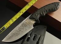 Y-START Kiku Matsuda camping survival tactics straight knife ATS-34 steel 61-62HRC outdoor hunting knife