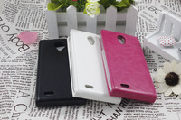 2014 new lenovo S820 flip leather case pouch case S820 PU flip case for lenovo cover Free S820 case Shipping