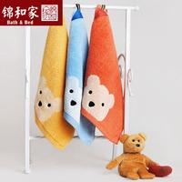 Cotton Untwisted Yarn Towel Hooks Cubs Pattern Needlework Baby Bedding Children Towel
