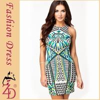 Ethnic Bohemian Geometric Print Women Dress Sexy Club Dress Celebrity Dresses Summer 2014