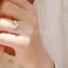 C001 mix wholesale Factory price! New style Fashion shiny love rhinestone adjustable ring jewelry  for women,free shipping(China (Mainland))