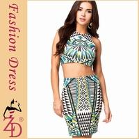 2014 Women Vestidos Summer Dresses Celebrity Sexy Party Night Club Wear 2 Piece Bodycon Bandage Dress