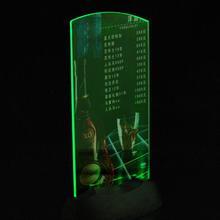 1pcsAcrylic Flashing Led Light Table Menu Restaurant Card Display Holder Stand(China (Mainland))