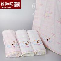 Fashion dog Pattern Soft Cotton Untwisted Yarn Towel Needlework Baby Bedding Children Towel