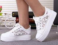 2014 cutouts lace canvas shoes hollow floral print breathable platform women sneakers 2014 shoes woman