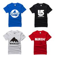 famous outdoor Skiing board brand T Shirt cotton 2014 burton t-shirt man top tee casual man short sleeve plus size