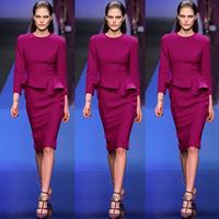 Women work wear bodycon dress roupas femininas evening dress vestido 2014 autumn winter bandage Dresses Free shipping