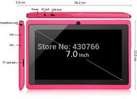 Cheap dual core android 4.2 tablet pcs q88 computer allwinner a23 dual camera 1.2 Ghz 512M/4G WIFI 3G flash drive tablet 7