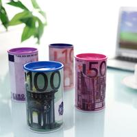 6PCS/LOT digital money box  100EURO design electronic coin counter piggy bank money saving jar promotion gift free shipping