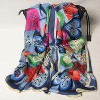 102 2014 Newest Women's brand Georgette Satin scarf, 100% Silk scarves, rectangle silk scarf, Free Shipping,  Muslim Hijab