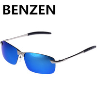2014 Men  Polarized  sunglasses colorful sports sun glasses alloy  driver driving  glasses  UV 400  with case black 2120A