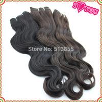 Free Shipping Human hair bundles 1pcs/lot cheap virgin indian hair Natural Hair Weaves Indian wavy hair color 1b #2 grade AAAAA