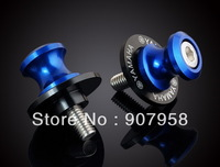 Cool ! 6MM Motorcycle Swingarm Sliders Spools Fit For Yam Ha Year all Blue
