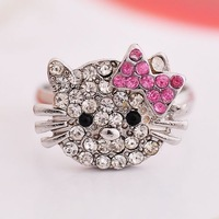 20% discount of 3pcs or more fashion high quality cat ring adjustable ring J153