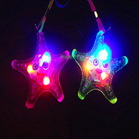 Soft glow necklaces flashing necklace luminous flash toys small gift