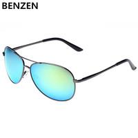 2014 Men Polarized  sunglasses colorful sun glasses UV 400  Eyewear Classic  Aviator Driving Glasses  with case black 2121A
