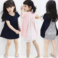 2014 Summer girls stitching broken beautiful dress   princess dress  Han edition children's dress 2-7 years