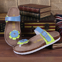 2014 women's sandals slippers female cork slippers x034 p30