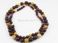 43-45cm 2-row 8-12m natural Yolk stone necklace