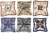 60x60cm Luxurious women silk scarf brand women shawl facecloth hijab bandana scarves Free Shipping