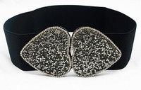 New fashion of heart-shaped crystal Mosaic lady jacket belt