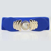 new dress wide belt opal diamond inlaid female money joker crony waist belt