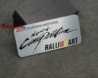 New arrive for MITSUBISHI RALLIART aluminum 3D Badge Emblem car sticker  good quality