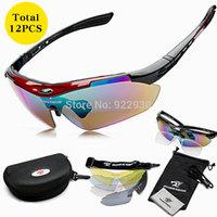 Polarized Outdoor Sports Men Women Bike Sun Glasses Ski Eyewear Goggle Sunglasses Cycling Bicycle Driver 5 Lens Glass Sunglass
