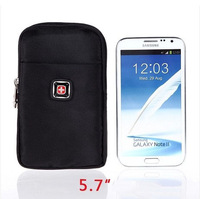Swiss army knife male waist pack casual big screen mobile phone waist pack wallet strap 5.7 mobile phone bag