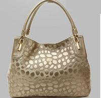 2014 Free Shipping Stone Print Genuine Leather Handbags Women Famous Brands Designer Vintage Bags Women Fashion Bags