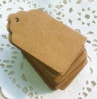 5*3cm baking blank vintage price tag gift handmade kraft paper tag clothing price Packaging Label 100pcs/lot