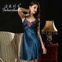 100 silk women's summer silk nightgown silk suspenders silk pajamas female models D3395