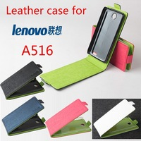 screen protector + wholesale up down style Lenovo A516 Leather flip Cover case with free shipping