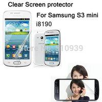 2PCS Clear Screen protector Guard Cover Film For Samsung Galaxy S3 mini S III mini i8190 I8190N Free shipping