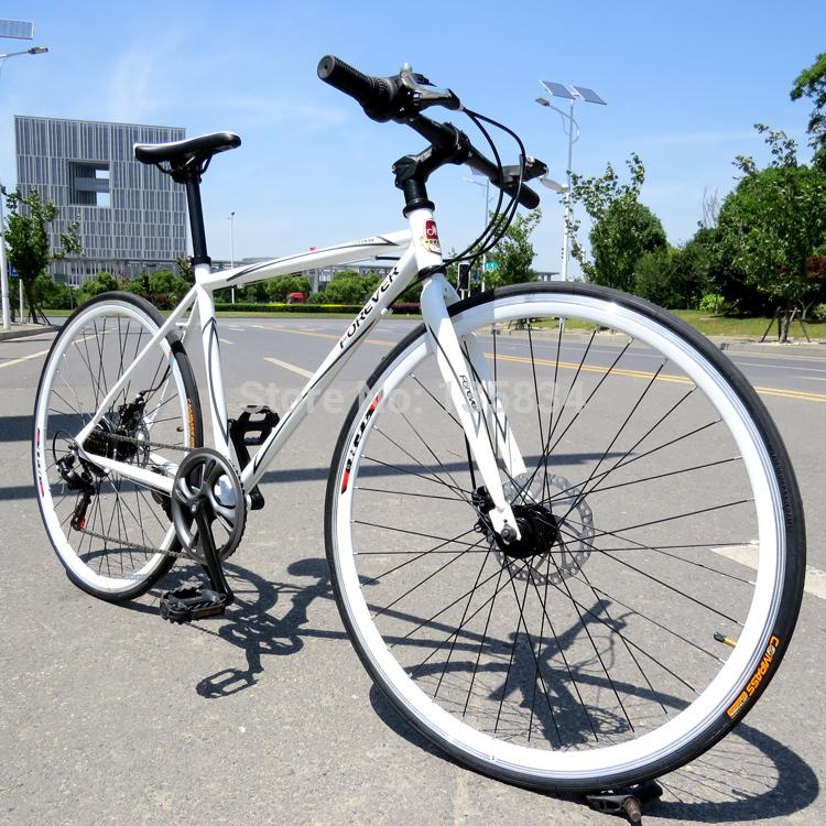 B129 VIP Forever 700C Road Bike 7 Speeds Steel Frame Road bicycle bike speed bicicletas bikes Disc Brake 2014 New TZ official(China (Mainland))