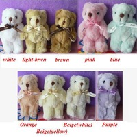 Wholesale 24pcs/Lot H=13cm Cartoon Bouquet Tactic Bear Plush Toys/Dolls/Pendants For Christmas Gifts 9 Color To Choose