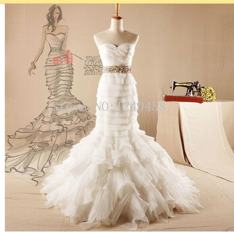 Diamond Fishtail Wedding Dresses : Popular lightweight wedding dresses buy cheap