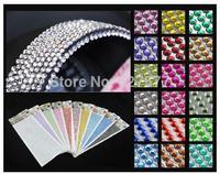 1000pcs 4mm Rhinestone Self Adhesive Car Stickers Diamantes Stick On Crystals Beads Nail Art More Color Choice