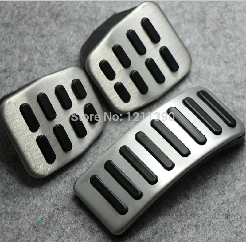 Stainless steel Car Clutch Gas Brake pedals Cover for Volkswagen VW Polo Bora Lavida Golf MK4 Santana Jetta MK4/Skoda Fabia(China (Mainland))