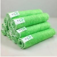 23x18cm 20pcs High Efficient Anti-greasy Thick Bamboo Fiber Hand Washing Dish Towel Cleaning Cloth Wiping Rag Kitchen Dishcloth