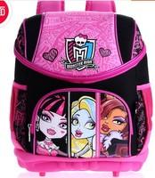 Fashion Brand Design Children Girl's Oxford Skull Backpack Cartoon MONSTER HIGH Spiderman Fashion School Bag Free Shipping
