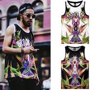 new fashion street basketball hip hop tank tops shirt  brooklyn sport vest Ventilation clothing for men and women free shipping