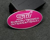 New arrive for SUBARU STI aluminum 3D Badge Emblem car sticker 86mm*44mm good quality